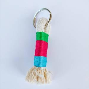 Schlüsselanhänger aus Baumwollseil Bild 8