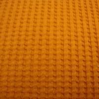 Waffeljersey-Stoff uni rostfarbe Öko-Tex Standard 100 - Meterware Glünz Stoffe Jerseystoffe Waffenmuster Karomuster Bild 1