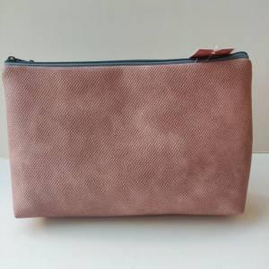 Kulturtasche aus rosa Kunstleder in zwei Größen mit STERN Bild 6