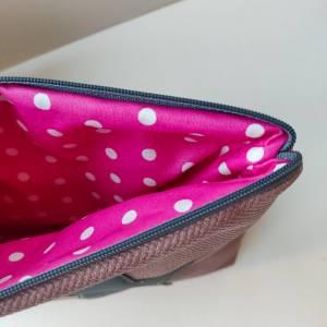 Kulturtasche aus rosa Kunstleder in zwei Größen mit STERN Bild 7
