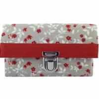 Damen Geldbörse Portemonnaie Blüten & Blätter Terracotta - Miss Manny Medium Bild 1