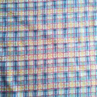 Patchworkstoff, blau karierter Quiltstoff  mit roten, blauen und gelben  Streifen -  SSI Studio Nr. 045 Bild 2