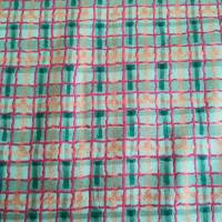 Patchworkstoff, grün karierter Quiltstoff  mit roten, blauen und gelben  Streifen -  SSI Studio Nr. 054 Bild 1