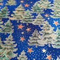 Patchworkstoff - gelbe Sternchen mit Kringel auf blauem Hintergrund,  SSI Studio Nr. 055 Bild 9