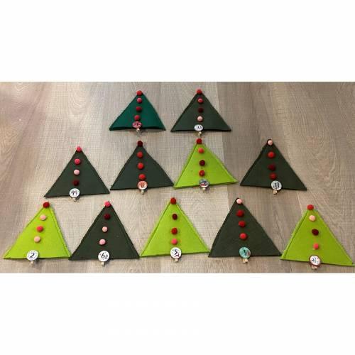 Adventkalender aus Filz befüllbar Tannenbaum