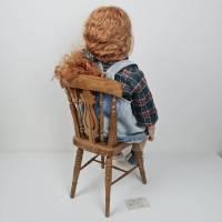 Große Künstlerpuppe mit Stuhl - Porzellan Handarbeit Gabi Ziehm Mayen Bild 4
