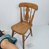 Große Künstlerpuppe mit Stuhl - Porzellan Handarbeit Gabi Ziehm Mayen Bild 8