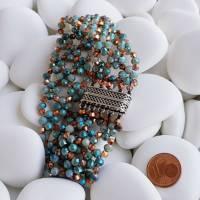 Bridget - ein auffallendes Perlenarmband Bild 1