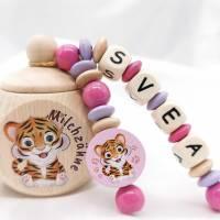 Zahndose mit Namen Milchzahndose Mädchen Tiger  Bild 1
