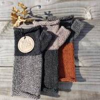 Armstulpen - Handstulpen - Pulswärmer aus Wolle (Merino) - anthrazit / grau Bild 5