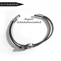 Rheinturm Motiv mit schwarzen Glitzer-Armband Bild 4