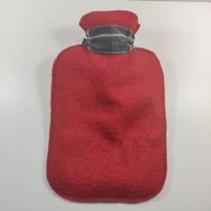 Wärmflasche  mit Wollfilzhülle in rostrot mit STERN Bild 4