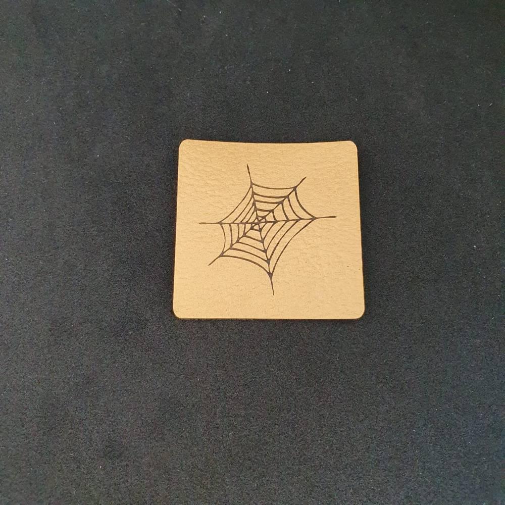 """Kunstlederlabel """"Spinnennetz"""" Bild 1"""