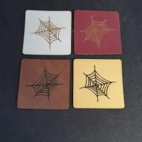 """Kunstlederlabel """"Spinnennetz"""" Bild 2"""