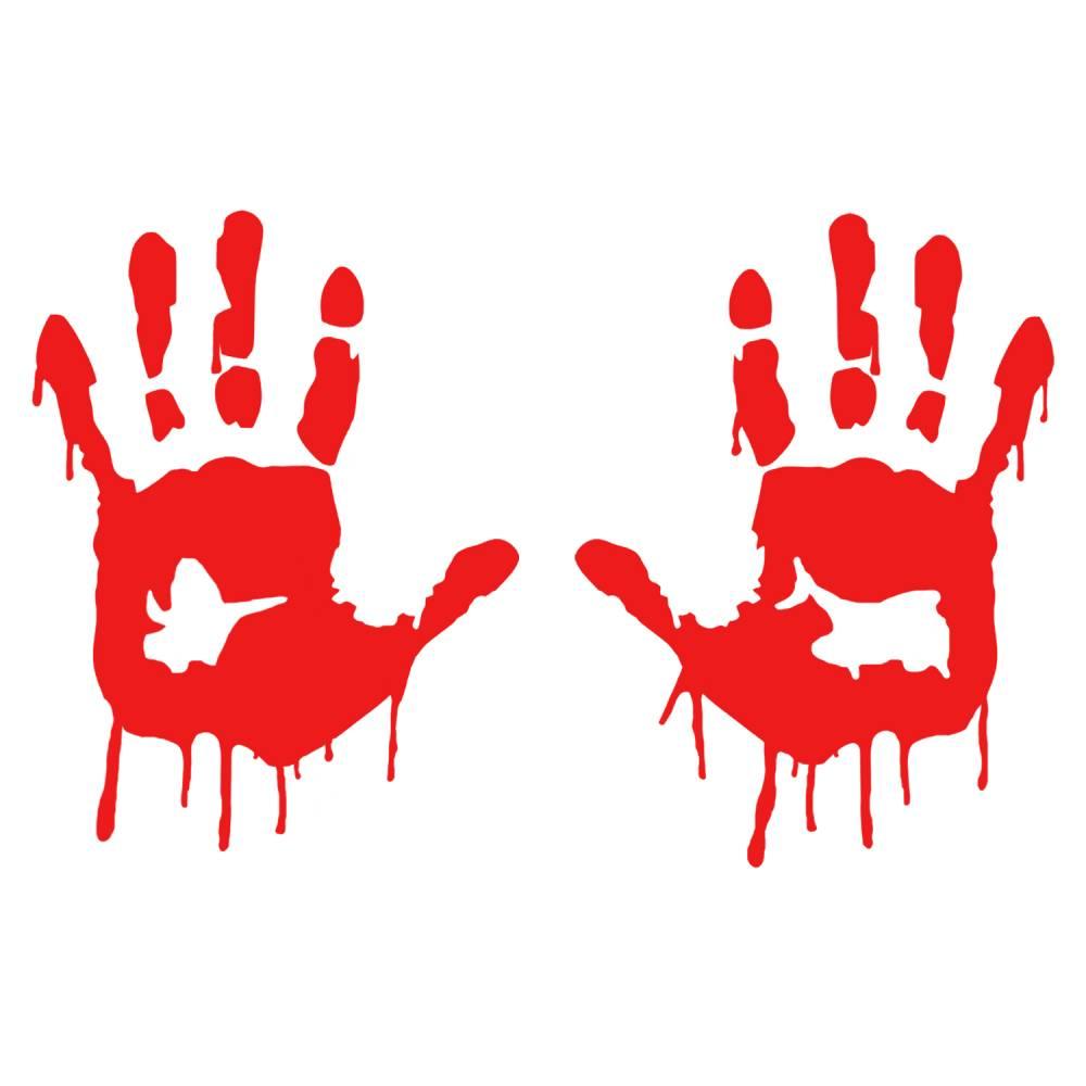 Blutige Hände Aufkleber Bild 1