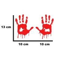 Blutige Hände Aufkleber Bild 2