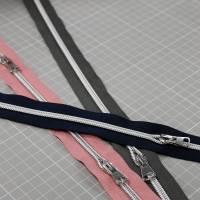 Endlos-Reißverschluss Metalloptik in grau 6mm Meterware Bild 5