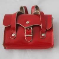 Vintage Tasche mit Inhalt für Puppen Ranzen Tornister Bild 1