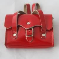 Vintage Tasche mit Inhalt für Puppen Ranzen Tornister Bild 5