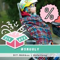 """DIY-NähBox für den Kindersitz Beinwärmer """"Snugly"""", Wind- und Wetterschutz für den Fahrradsitz, REDUZIERT Bild 1"""