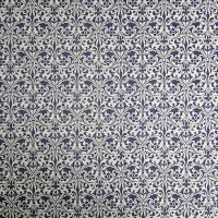 "Italienisches Papier - CARTA VARESE Dekor B193 - ""Zierornament blau"" Bild 2"