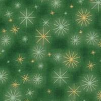 Patchworkstoff kleine rote Christrosen  auf grünem Hintergrund von Fabri Quilt Saison Greetings 216 Nr. 41 Bild 4