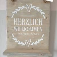 Schlüsselbrett aus Holz mit Wunschname Bild 1
