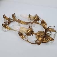 Zwei prunkvolle Florentiner Wandlampen - Paar Wandleuchten mit Kristall Bild 3