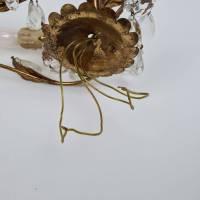 Zwei prunkvolle Florentiner Wandlampen - Paar Wandleuchten mit Kristall Bild 5