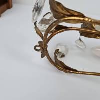 Zwei prunkvolle Florentiner Wandlampen - Paar Wandleuchten mit Kristall Bild 6