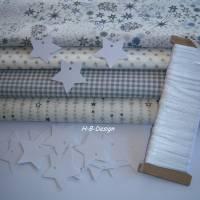 Diy-Nähset-Adventskalender nähen, Stoffpaket Adventskalender-Weihnachten-Sterne-Beutel, Säckchen-Nähprojekt, Bild 1