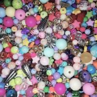 DIY Materialpaket Perlen, 800 g bunter Perlenmix zum Fädeln und Basteln Bild 1