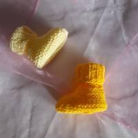 Babyschuhe Frühchen gestrickt Sohle ca. 8 cm Bild 4
