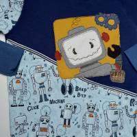 Roboter Pulli aus Sommersweat mit Stickerei in Gr. 110 Bild 3