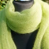 Strickschal Kid Mohair und Seide grün Bild 1