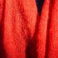 Strickschal Kid Mohair rot Bild 3