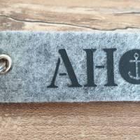 """Schlüsselanhänger aus Filz """"AHOI"""" Bild 1"""