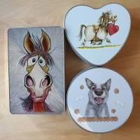 Geschenkbox, Leckerli-Box, Blechdose für Hunde-, Pferde-, Katzenfreunde Bild 2