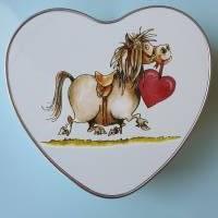 Geschenkbox, Leckerli-Box, Blechdose für Hunde-, Pferde-, Katzenfreunde Bild 3