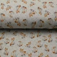 """Alpenfleece """"Fuchs"""", hellgrau-meliert, 150 cm breit, Meterware, Preis pro 0,5 lfdm Bild 1"""