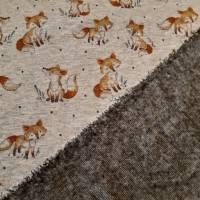 """Alpenfleece """"Fuchs"""", hellgrau-meliert, 150 cm breit, Meterware, Preis pro 0,5 lfdm Bild 3"""