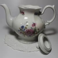 Vintage Porzellan Kaffeekanne mit Blumenmotiv Bild 3