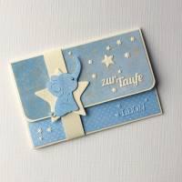 Geldgeschenkkarte  Babykarte  Gutscheinkarte zur Geburt Taufe  Bild 1
