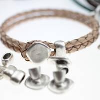 5 Endstücke mit Schiebeperlen, Set zur Schmuckherstellung - ZM538 Bild 1