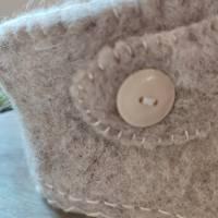 Baby Filzschuhe - Filzstiefelchen, Gr. 19/20, cappuccinobraun/creme Bild 9