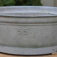 alte Zinkwanne Waschzuber 55 Liter Bild 1