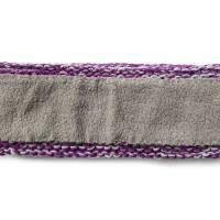 Stirnband mit Zopfmuster von Hand gestrickt aus Baumwolle zweifarbig mit hellgrau, auf Wunsch mit Fleece gefüttert Bild 9