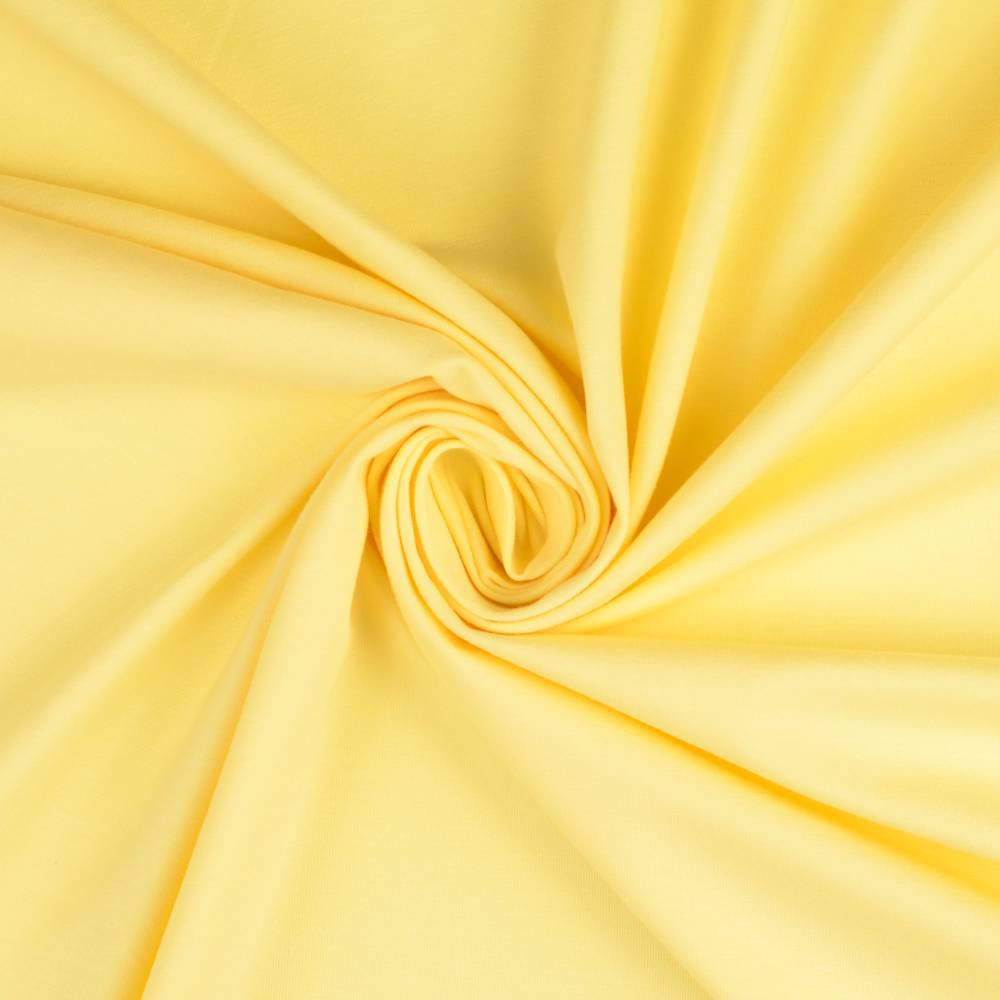 Jersey Baumwolljersey UNI Einfarbig hellgelb  Oeko-Tex Standard 100 (1m/11,-€) Bild 1
