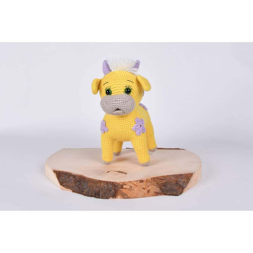 """Handgefertigte gehäkelte Puppe Kuh """"SINA"""" aus Baumwolle Bild 1"""