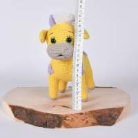 """Handgefertigte gehäkelte Puppe Kuh """"SINA"""" aus Baumwolle Bild 5"""